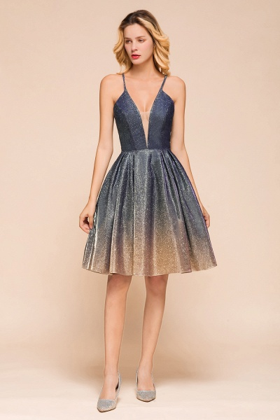 Cute Spaghetti Strap Lace-up Short Prom Dress_5