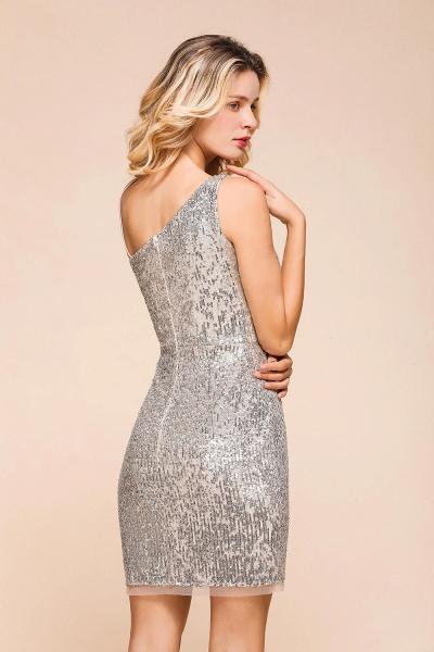Affordable One Shoulder Sheath Short Prom Dress_9