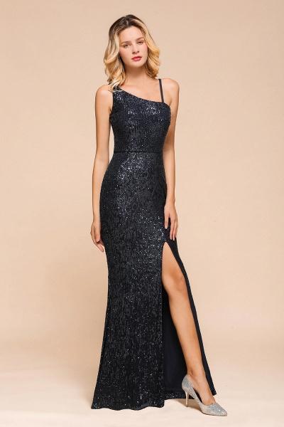 Sleek One Shoulder Split Sequins Mermaid Prom Dress_6