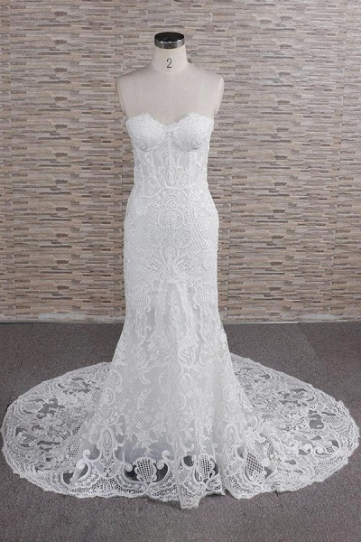 Stunning Strapless Appliques A-line Wedding Dress_1