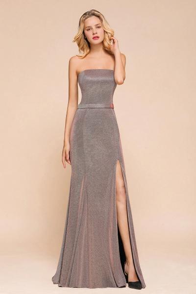 Elegant Strapless Front Split Mermaid Prom Dress_7