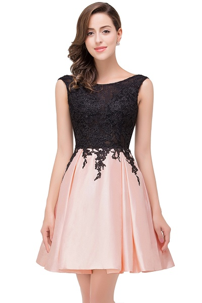 EVA | A-line Sleeveless Lace Appliques Short Prom Dresses_3