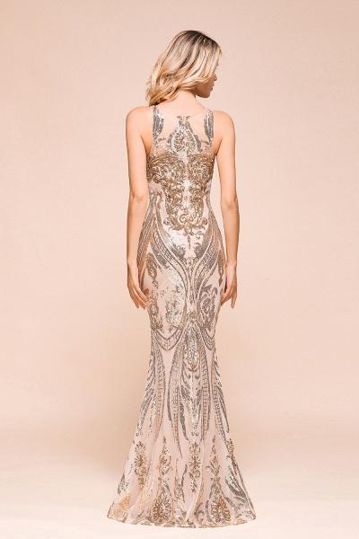 Amazing Illusion Sequins Tulle Mermaid Prom Dress_3
