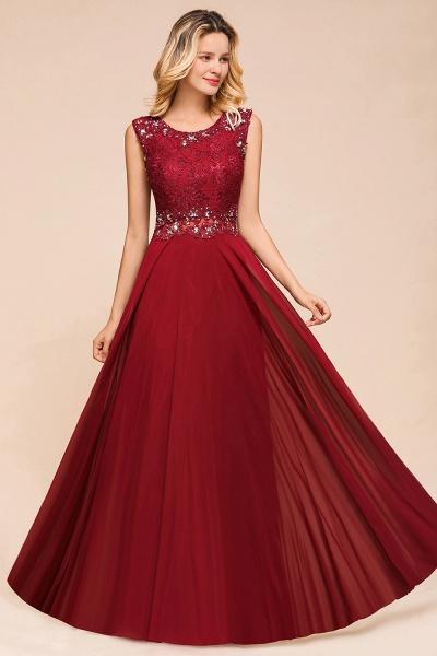 Elegant Lace Top Chiffon A-line Long Prom Dress_7