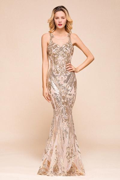 Amazing Illusion Sequins Tulle Mermaid Prom Dress_1