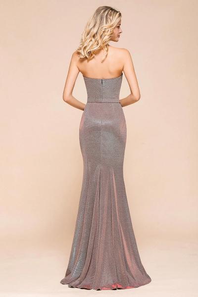 Elegant Strapless Front Split Mermaid Prom Dress_3