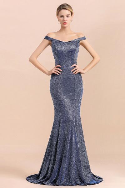 Stunning Bling Sweep Train Mermaid Long Prom Dress_6
