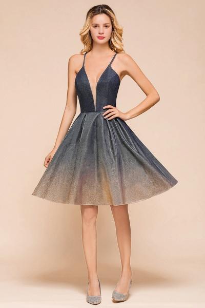 Cute Spaghetti Strap Lace-up Short Prom Dress_4