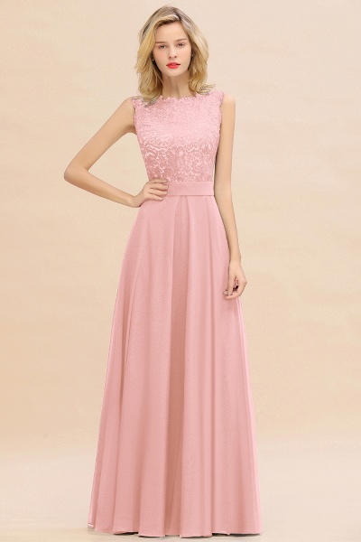 BM0772 Exquisite Scoop Sleeveless A-line Bridesmaid Dress_4
