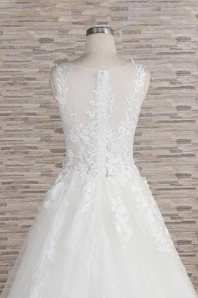 Eye-catching Applqiues Tulle A-line Wedding Dress_7