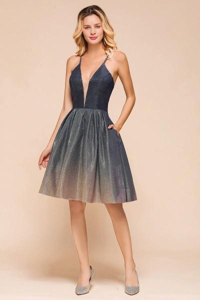 Cute Spaghetti Strap Lace-up Short Prom Dress_8