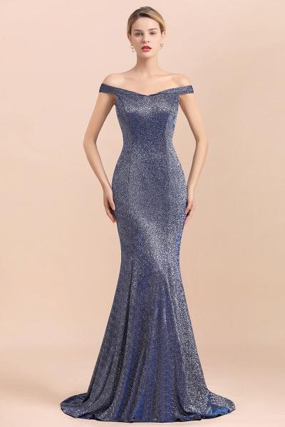 Stunning Bling Sweep Train Mermaid Long Prom Dress_1