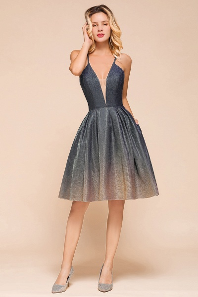 Cute Spaghetti Strap Lace-up Short Prom Dress_6