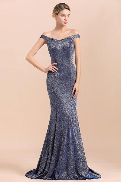 Stunning Bling Sweep Train Mermaid Long Prom Dress_8