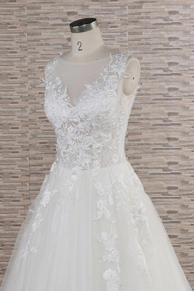 Eye-catching Applqiues Tulle A-line Wedding Dress_6