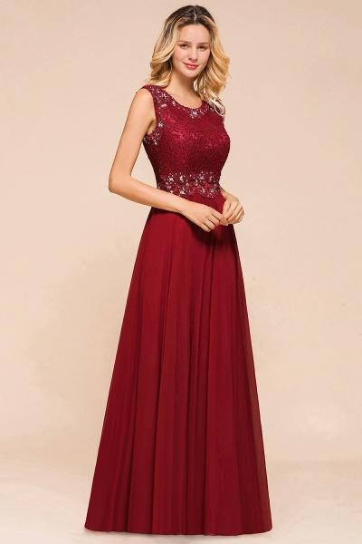 Elegant Lace Top Chiffon A-line Long Prom Dress_4