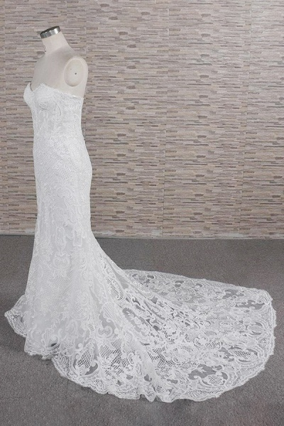 Stunning Strapless Appliques A-line Wedding Dress_4