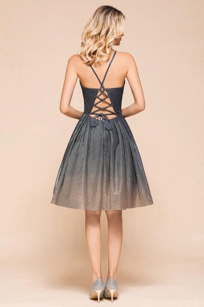 Cute Spaghetti Strap Lace-up Short Prom Dress_3