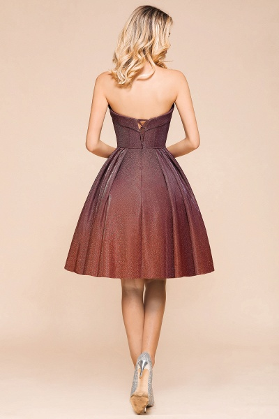 Ombre Sweetheart Backless Short A Line Prom Dress_3
