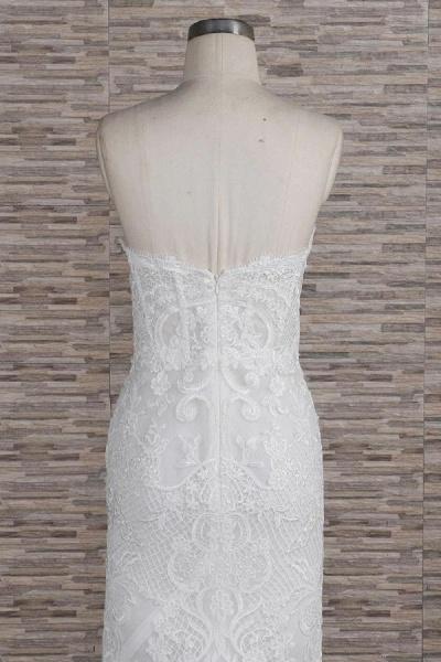Stunning Strapless Appliques A-line Wedding Dress_7