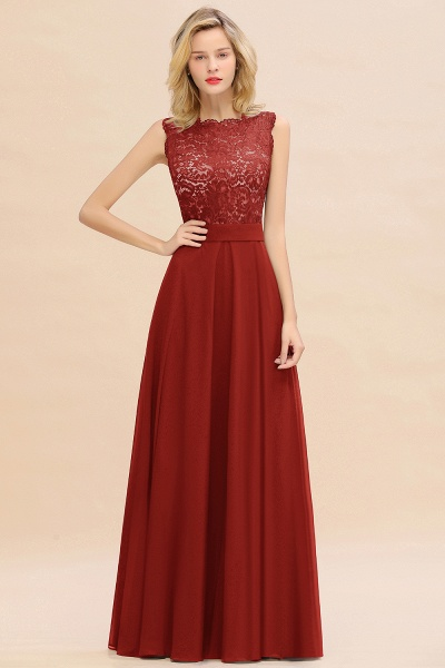 BM0772 Exquisite Scoop Sleeveless A-line Bridesmaid Dress_48