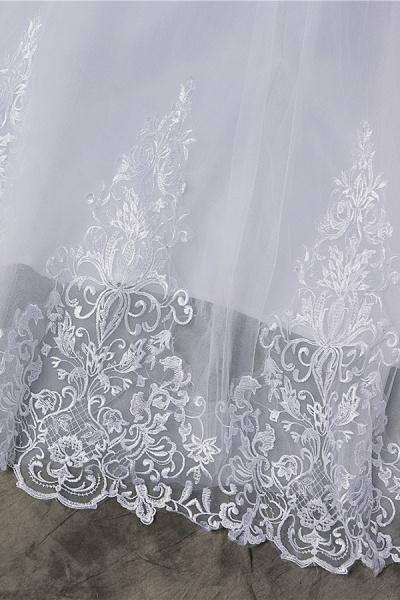 Elegant Appliques Lace Tulle A-line Wedding Dress_7