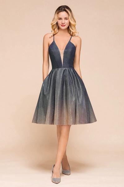 Cute Spaghetti Strap Lace-up Short Prom Dress_1