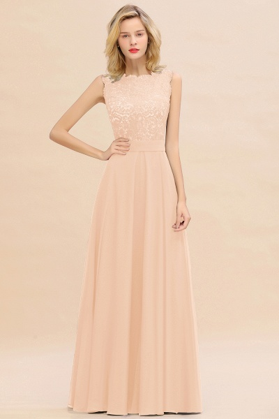 BM0772 Exquisite Scoop Sleeveless A-line Bridesmaid Dress_5