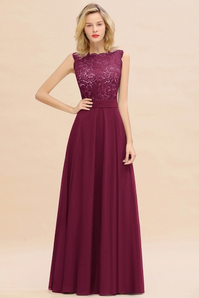 BM0772 Exquisite Scoop Sleeveless A-line Bridesmaid Dress_44