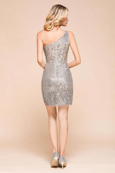Affordable One Shoulder Sheath Short Prom Dress_3