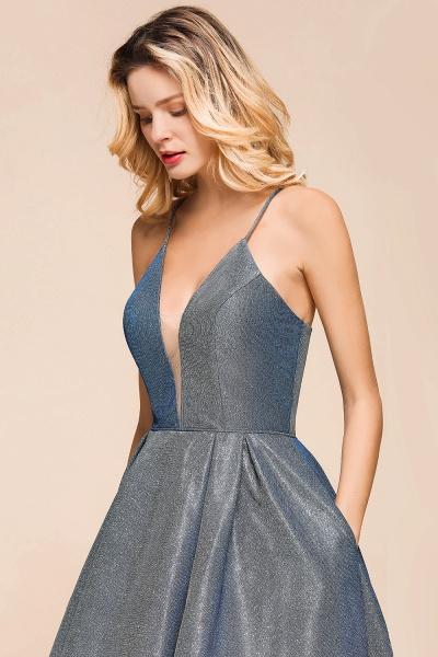 Glitter Spaghetti Strap A-line Short Prom Dress_9