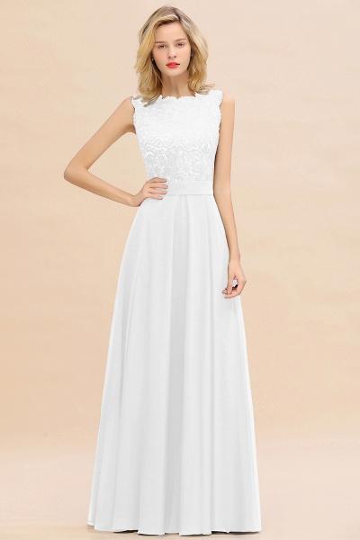 BM0772 Exquisite Scoop Sleeveless A-line Bridesmaid Dress_1