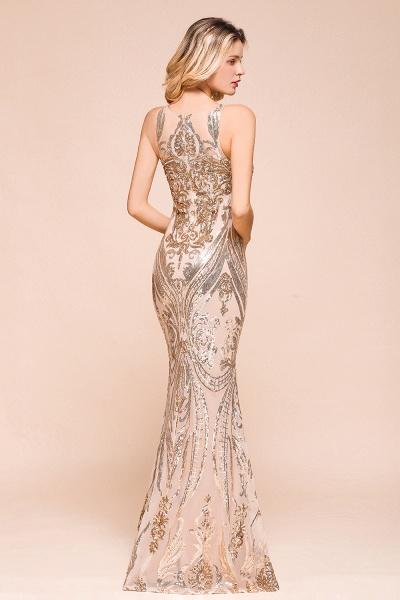 Amazing Illusion Sequins Tulle Mermaid Prom Dress_7