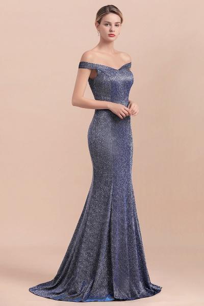 Stunning Bling Sweep Train Mermaid Long Prom Dress_4