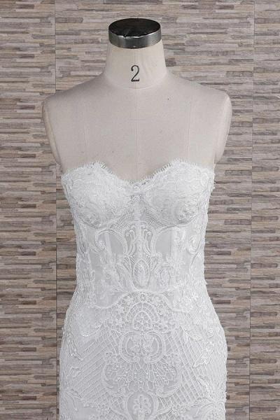 Stunning Strapless Appliques A-line Wedding Dress_5