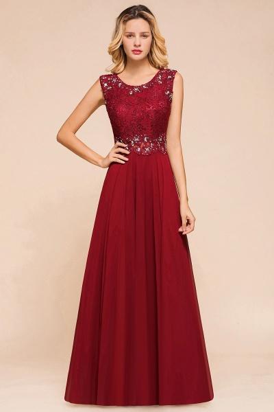 Elegant Lace Top Chiffon A-line Long Prom Dress_1
