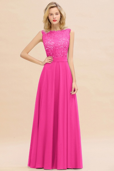 BM0772 Exquisite Scoop Sleeveless A-line Bridesmaid Dress_9