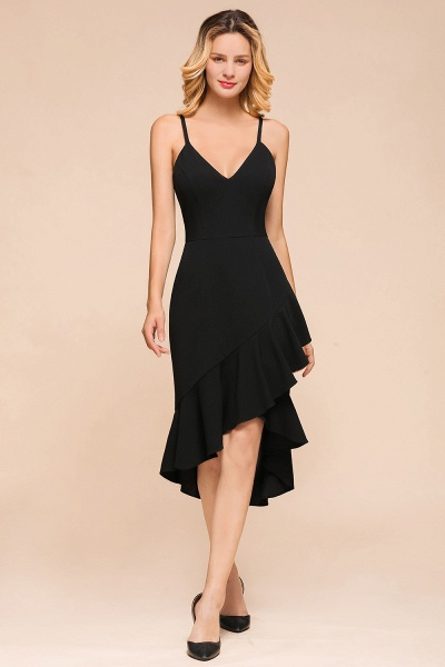 Simple Ruffle Backless High-low Mermaid Prom Dress_1