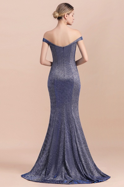 Stunning Bling Sweep Train Mermaid Long Prom Dress_3