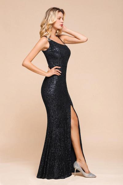 Sleek One Shoulder Split Sequins Mermaid Prom Dress_4