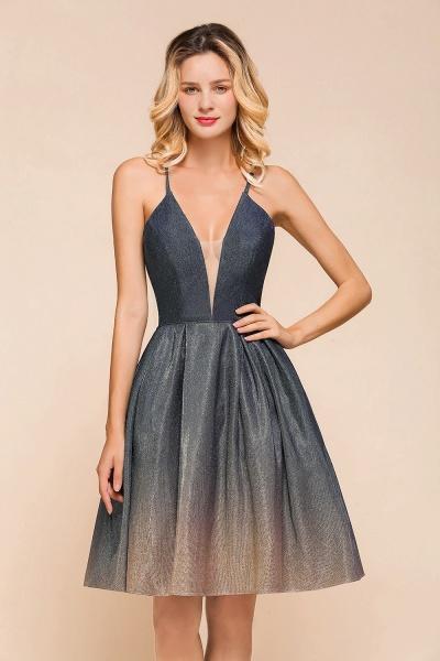 Cute Spaghetti Strap Lace-up Short Prom Dress_9