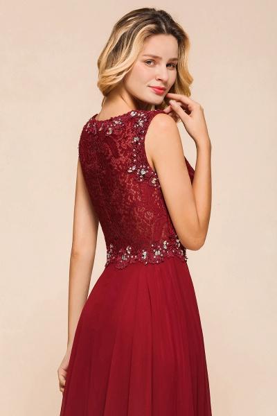 Elegant Lace Top Chiffon A-line Long Prom Dress_8