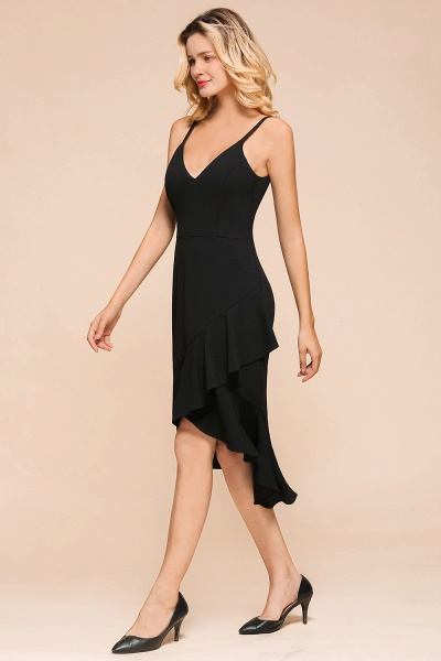Simple Ruffle Backless High-low Mermaid Prom Dress_6