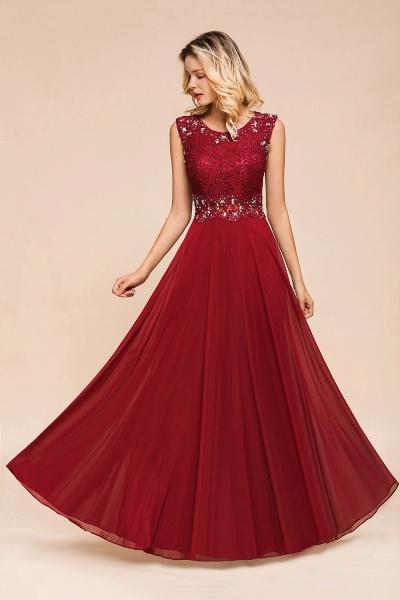 Elegant Lace Top Chiffon A-line Long Prom Dress_6