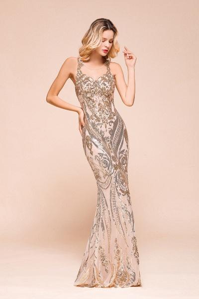Amazing Illusion Sequins Tulle Mermaid Prom Dress_6