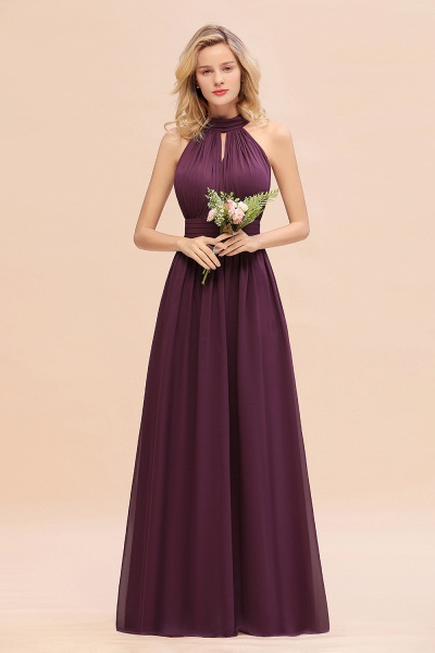 BM0758 Glamorous High-Neck Halter Bridesmaid Affordable Dresses with Ruffle_20