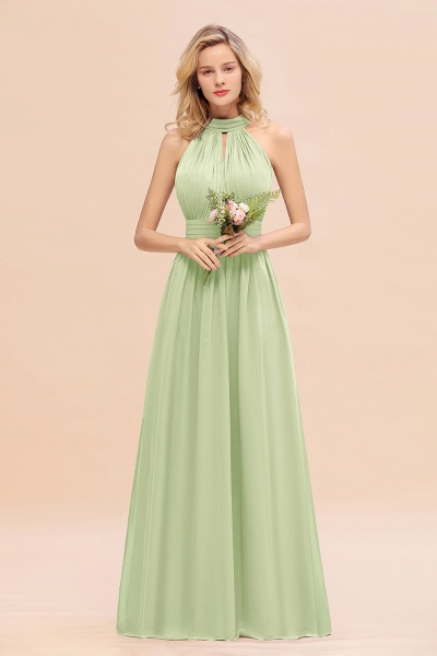 BM0758 Glamorous High-Neck Halter Bridesmaid Affordable Dresses with Ruffle_35