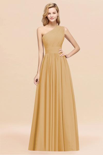 Elegant A-Line Burgundy Chiffon One-Shoulder Sleeveless Ruffles Floor-Length Bridesmaid Dresses_13