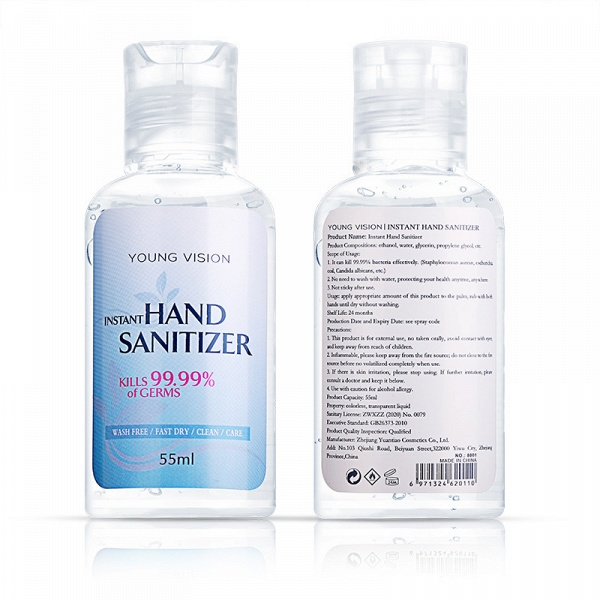 20 Bottles*55ml Young Vision No-Clean Instant Hand Sanitizer 70% Alcohol_2