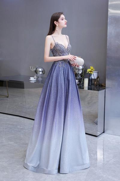 Elegant Spaghetti Straps Appliques Beads Ombre Prom Dress_3